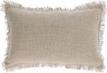 Kave Home - Funda cojín Ailen algodón y lino