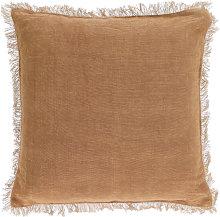 Kave Home - Funda cojín Almira algodón y lino