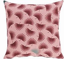 Kave Home - Funda cojín Berharnu 45 x 45 cm rosa