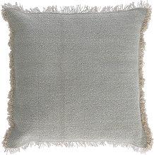 Kave Home - Funda cojín Camily 45 x 45 cm gris