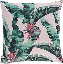 Kave Home - Funda cojín Hermie hojas verde 45 x