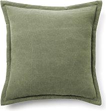 Kave Home - Funda cojín Lisette 45 x 45 cm verde