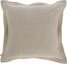 Kave Home - Funda cojín Maelina 45 x 45 cm beige