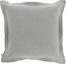 Kave Home - Funda cojín Maelina 45 x 45 cm gris