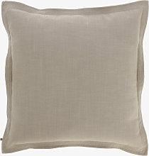 Kave Home - Funda cojín Maelina 60 x 60 cm beige