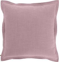 Kave Home - Funda cojín Maelina 60 x 60 cm rosa