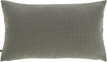 Kave Home - Funda cojín Nedra 30 x 50 cm gris