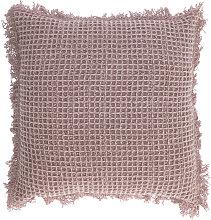 Kave Home - Funda de cojín Shallow 45 x 45 cm rosa