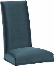 Kave Home - Funda silla Freda terciopelo turquesa