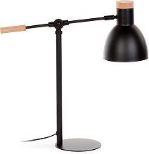 Kave Home - Lámpara de mesa Tescarle de madera de