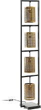 Kave Home - Lámpara de pie Margery de metal