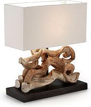 Kave Home - Lámpara de sobremesa Comet de madera