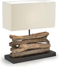 Kave Home - Lámpara de sobremesa Sahai de madera