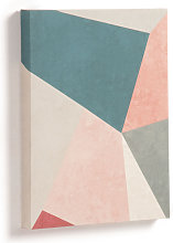 Kave Home - Lienzo Kyrene 28 x 35 cm trapecio azul