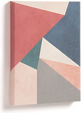 Kave Home - Lienzo Kyrene 28 x 35 cm triángulo