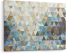 Kave Home - Lienzo Udo dúnya 100 x 80 cm