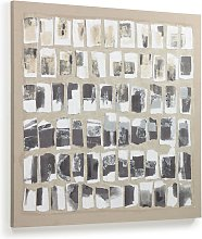 Kave Home - Lienzo Xiomara blanco y negro 80 x 80