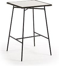 Kave Home - Mesa alta Leora 70 x 70 cm cemento y