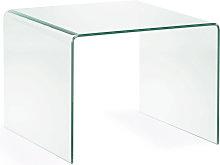Kave Home - Mesa auxiliar Burano de cristal 60 x