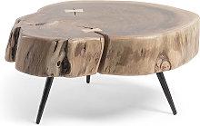 Kave Home - Mesa auxiliar Eider madera maciza de