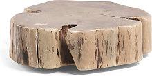 Kave Home - Mesa de centro con ruedas Essi madera