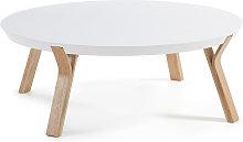 Kave Home - Mesa de centro Dilos madera maciza de
