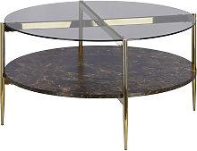 Kave Home - Mesa de centro Kamilah Ø 84 cm