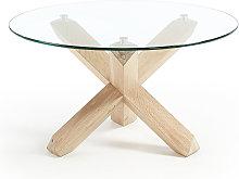 Kave Home - Mesa de centro Lotus Ø 65 cm cristal