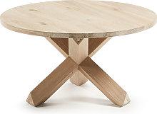 Kave Home - Mesa de centro Lotus Ø 65 cm madera