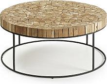 Kave Home - Mesa de centro Solo madera maciza de
