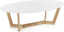 Kave Home - Mesa de centro Wave madera maciza de