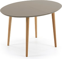 Kave Home - Mesa extensible oval Oqui marrón 120