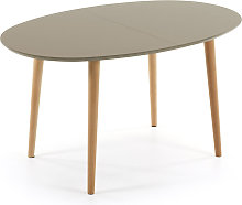 Kave Home - Mesa extensible oval Oqui marrón 140
