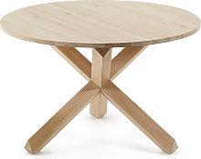 Kave Home - Mesa redonda Lotus Ø 120 cm madera