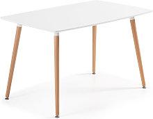 Kave Home - Mesa Wad 140 x 80 cm cm lacado blanco