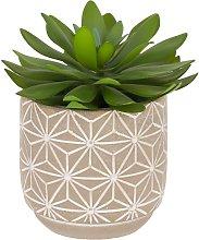 Kave Home - Planta artificial Cactus con maceta de