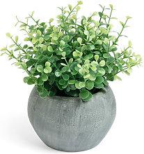 Kave Home - Planta artificial Eucalipto con maceta