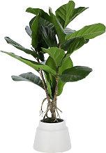 Kave Home - Planta artificial Lyrata con maceta de
