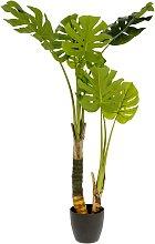 Kave Home - Planta artificial Monstera con maceta