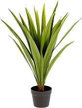 Kave Home - Planta artificial Yucca con maceta