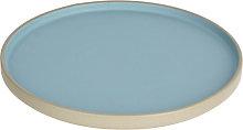 Kave Home - Plato plano Midori cerámica azul