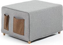 Kave Home - Puf cama Kos 70 x 60 (180) cm gris