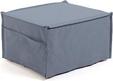 Kave Home - Puf cama Lizzie 70 x 60 (180) cm azul