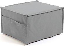 Kave Home - Puf cama Lizzie 70 x 60 (180) cm gris
