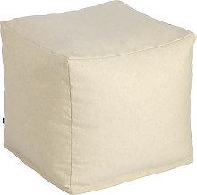 Kave Home - Puf cuadrado Nedra 50 x 50 cm beige