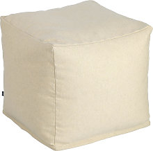 Kave Home - Puf cuadrado Nedra 50 x 50 cm blanco