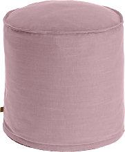 Kave Home - Puf Maelina Ø 42 cm rosa