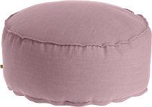 Kave Home - Puf Maelina Ø 70 cm rosa