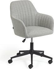 Kave Home - Silla de escritorio Madina gris claro