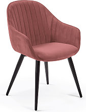 Kave Home - Silla Fabia terciopelo rosa